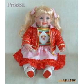 现有24寸成品发声娃娃有货现;535箱,每箱12只 广招客源