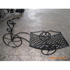 (欧式风格)铁艺自行车花架 工艺品