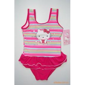东莞蓝可Hello kitty KT猫女童连体泳衣8802
