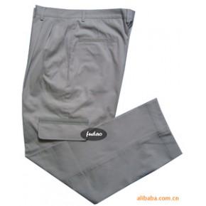 批量定做全棉加厚珠帆多袋反光条工作裤
