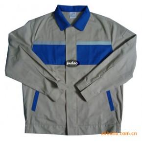 少量现货大批量定做全棉细斜拼色带反光条夹克