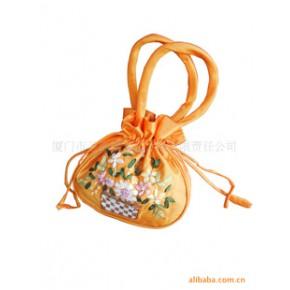 手工丝带绣手提包/手提袋/中国风手提包