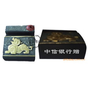 中信银行:金融机构净艺和炭雕商务礼品订购/名片座