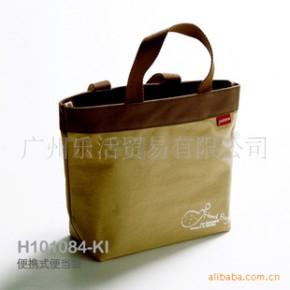 便携式便当袋,午餐袋,饭盒袋-内部涂防水层,方便清洗