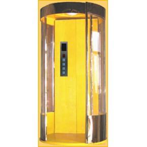 圆形半圆形别墅家用电梯--圆形家用电梯规格