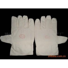 :纯棉帆布、卡基布劳保手套   常年供货 可来样来料加工