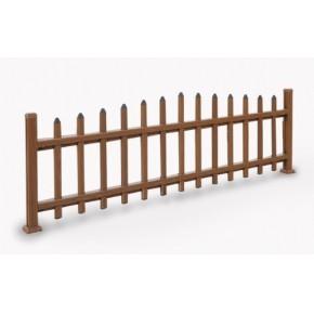 上海比PVC更好的户外仿木金属装饰建材绿化护栏07