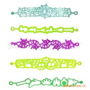硅胶镂空手环,镂空手链,雕花镂空手环,镂空硅胶手环来历,按图订做