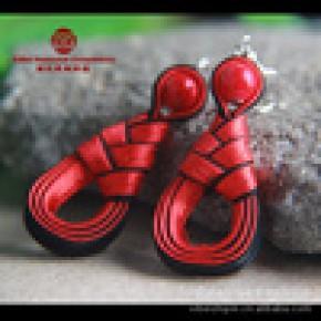 民族风饰品 原创手工民族饰品批发 古典布艺民族耳环 EH-B002