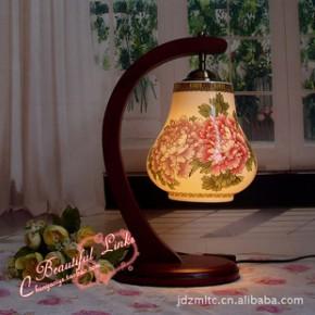 景德镇薄胎陶瓷灯 台灯 国色天香