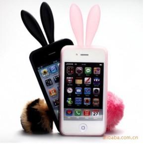 承接订制iphone 4G2011新款人气兔子立体手机套硅胶护套(加工)