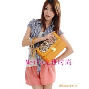2011新款个性时尚豹纹韩版女包单肩背女包链条女包淘宝货源