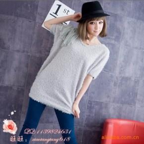 Y577 流苏毛绒T恤 日韩女装 2011年春装新款女装
