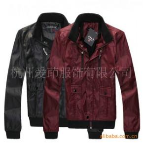 TC0372男式韩版型男精品多拉链涂层修身夹克