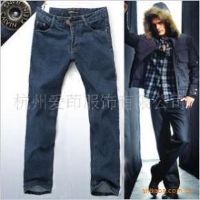 TC0377男式韩版精品全棉水洗经典直筒牛仔裤