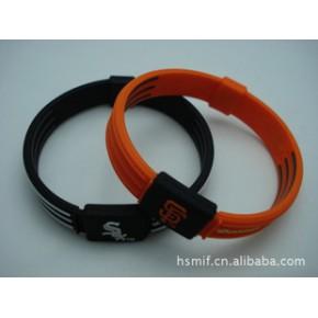 订制负离子能量手环/硅胶能量手环/能量平衡手环,颜色多