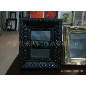 黑色复古相框、镜框、实木涂装工艺相框