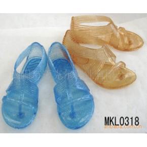水晶凉鞋 多款糖果颜色 外贸凉鞋