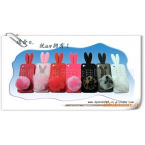 时尚新款兔子手机套/硅胶手机套iPhone4G