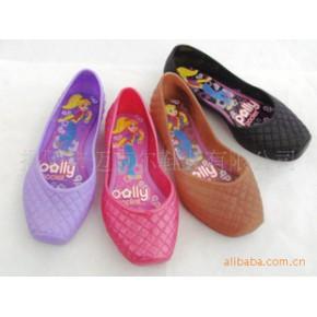 水晶果冻凉鞋 儿童凉鞋 卡通图片贴底