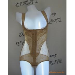 杜尔西内亚强效收腹胃提臀蚕丝印花连体塑身衣/美体衣