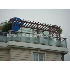 北京露台花架/葡萄架 松木