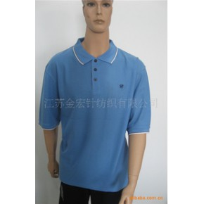 男式休闲素色全棉POLO衫