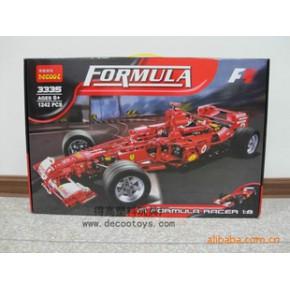 3335 1:8 法拉利 F1赛车 1242pcsDIY自装汽车模型