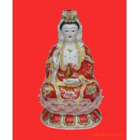 鸿祥陶瓷新上市24寸手工彩绘万年观音