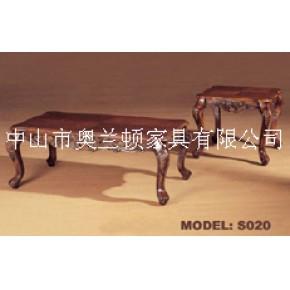广东仿古实木家具订制,酒店、样板房木茶几