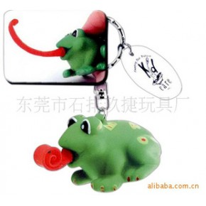吐舌头青蛙钥匙扣,卷舌动物钥匙扣