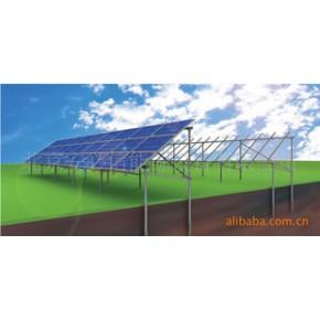光伏组件配套,太阳能板固定支架-圆管地面支架系统(螺旋桩基础)