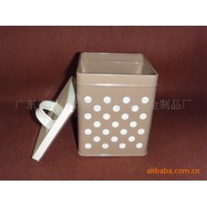 铁皮喷漆桃心方罐,铁桶,储物罐,欢迎咨询