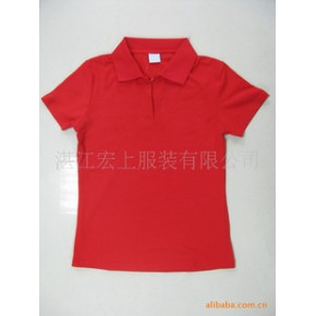 承接外贸女式翻领T恤衫来样加工