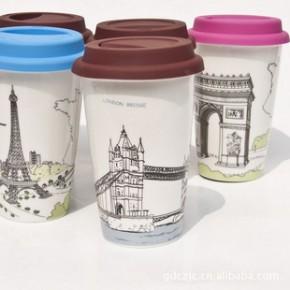 创意杯子 星巴克双层陶瓷杯子 国家风景系列14款