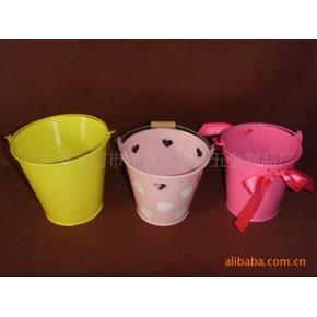 铁皮制品喷漆圆形小桶,铁桶,园艺桶,欢迎咨询