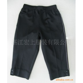 女士运动中裤加工、生产 运动装