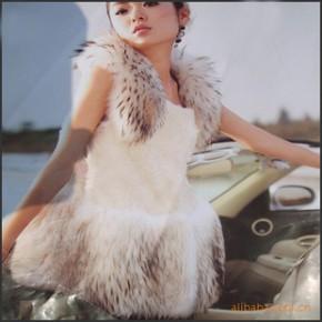 2011年时尚给力   100%貉子毛+羊羔毛皮草马夹