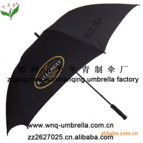 【】万年青30英寸黑色高尔夫广告伞  十多年专业生产