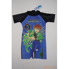 东莞蓝可BEN10地球保卫者儿童连体泳衣冲浪服8607新款