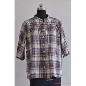 女式衬衫 格子衬衫 现货