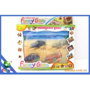 QQ农场 停车场  牧场3D拼图玩具 3D拼图 儿童益智产品