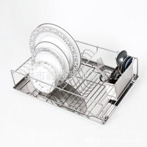 厨房用不锈钢碗碟沥水架带筷子刀叉筒经典欧美款式