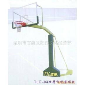 优质高强度安全玻璃、静电喷涂紫罗兰移动篮球架