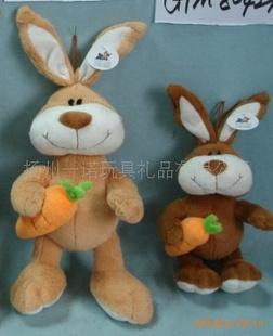 毛绒玩具兔子 毛绒抱萝卜兔子,毛绒兔子笔袋,兔子靠垫图片