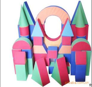 儿童玩具 软体几何图形游戏积木