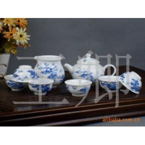 景德镇高温高白釉中彩/釉上彩/青花陶瓷茶具