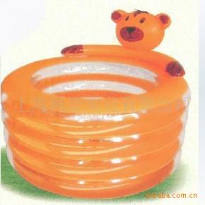 【品质保证】小熊四环充气游泳池 环保卡通儿童游泳池