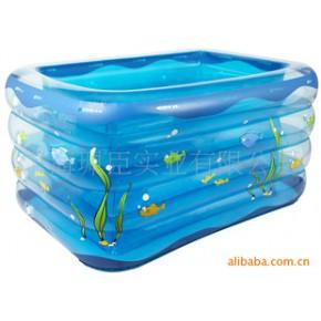 【小额批发】舒适环保宝宝游泳池 四环婴儿充气游泳池