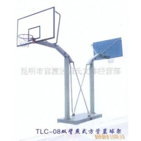 优质静电喷涂全玻璃钢燕臂式篮球架